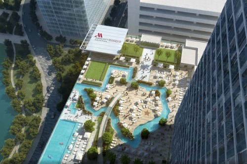 Marriott Marquis Houston Opens with Texas-Shaped Lazy River